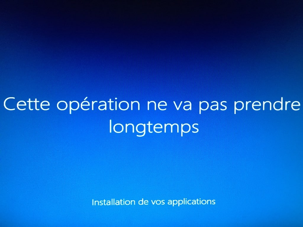 Windows 10 - Preparation demarrage de la session