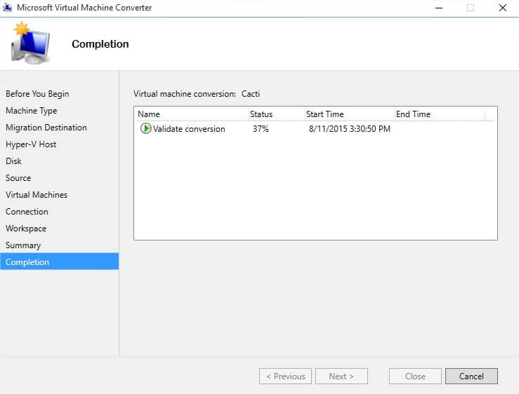 Microsoft Virtual Machine Converter - Image 12