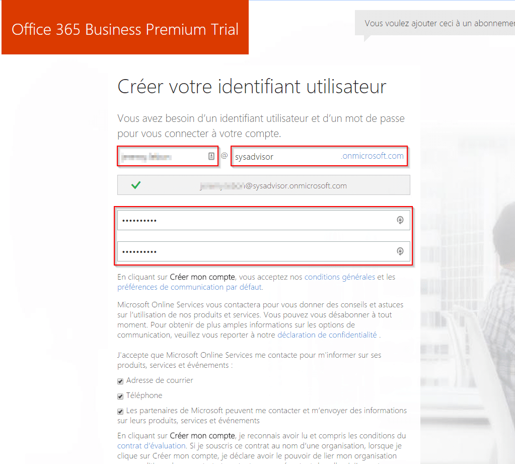 tuto office 365 comment configurer office 365 avec son domaine ovh sys advisor. Black Bedroom Furniture Sets. Home Design Ideas